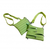 Zipper Shoulder Bags (8 Zippers on Each Side)