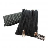 Zipper Wallet with D Ring Buckle (4 Zippers on One Side)