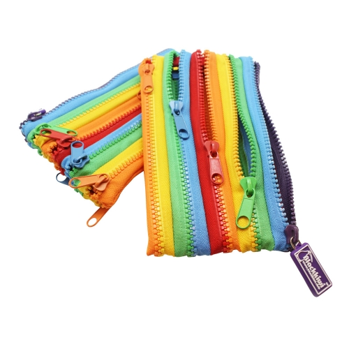 Plastic Zipper Cases (Total 5 Zippers)
