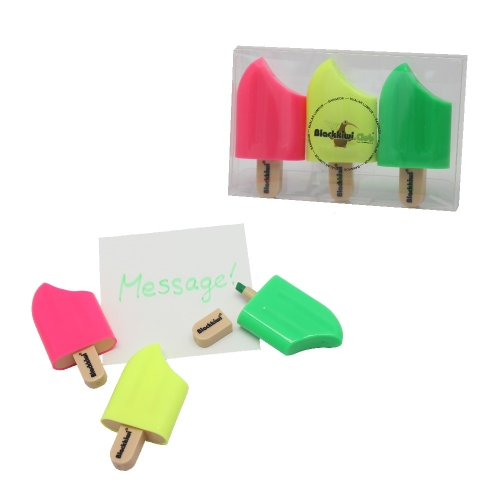 Popsicle Highlighters - 3 pcs per set