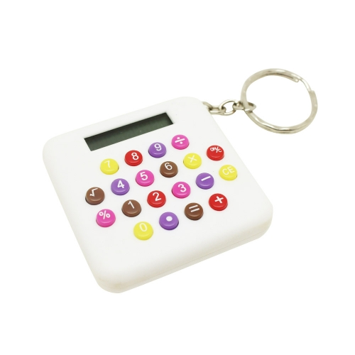 Square Calculator with key chain