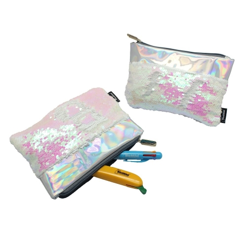 Reverse Sequin Pencil Case